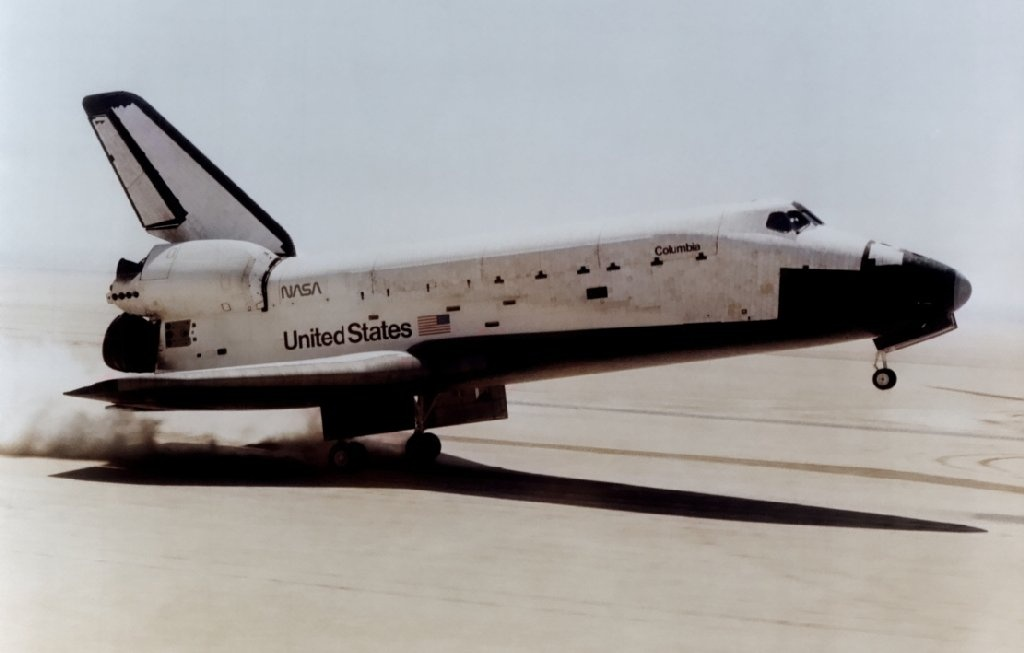 The very first successful landing of a Space Shuttle