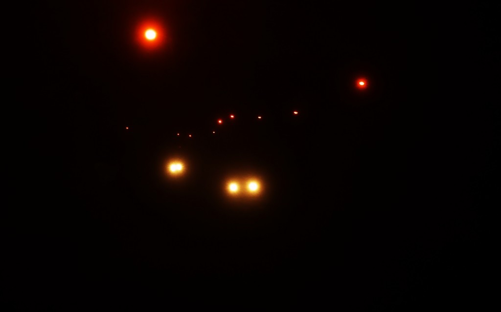 Cars zooming by